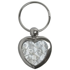 The Abstract Design On The Xuzhou Art Museum Key Chains (Heart)