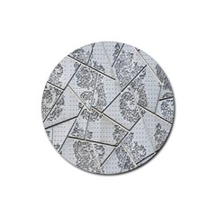 The Abstract Design On The Xuzhou Art Museum Rubber Coaster (round)
