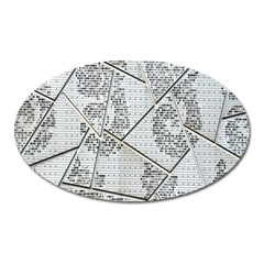 The Abstract Design On The Xuzhou Art Museum Oval Magnet