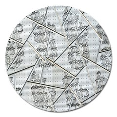 The Abstract Design On The Xuzhou Art Museum Magnet 5  (Round)