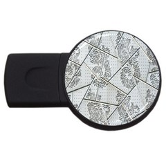 The Abstract Design On The Xuzhou Art Museum USB Flash Drive Round (1 GB)