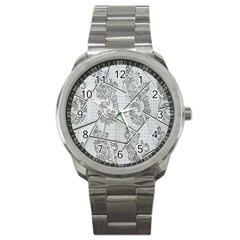 The Abstract Design On The Xuzhou Art Museum Sport Metal Watch