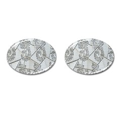 The Abstract Design On The Xuzhou Art Museum Cufflinks (oval)