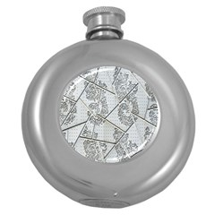 The Abstract Design On The Xuzhou Art Museum Round Hip Flask (5 Oz)