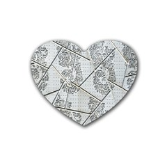 The Abstract Design On The Xuzhou Art Museum Heart Coaster (4 pack)