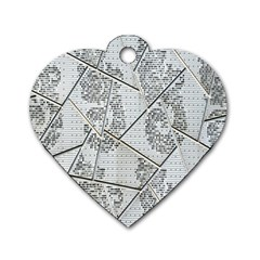 The Abstract Design On The Xuzhou Art Museum Dog Tag Heart (Two Sides)