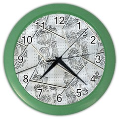 The Abstract Design On The Xuzhou Art Museum Color Wall Clocks