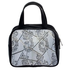 The Abstract Design On The Xuzhou Art Museum Classic Handbags (2 Sides)
