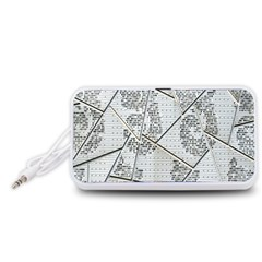 The Abstract Design On The Xuzhou Art Museum Portable Speaker (White)