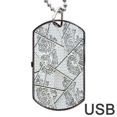 The Abstract Design On The Xuzhou Art Museum Dog Tag USB Flash (One Side)