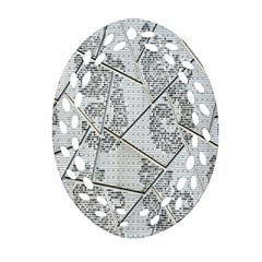The Abstract Design On The Xuzhou Art Museum Oval Filigree Ornament (Two Sides)