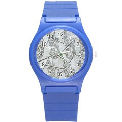 The Abstract Design On The Xuzhou Art Museum Round Plastic Sport Watch (s)