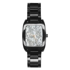 The Abstract Design On The Xuzhou Art Museum Stainless Steel Barrel Watch