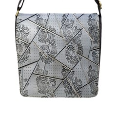 The Abstract Design On The Xuzhou Art Museum Flap Messenger Bag (L)