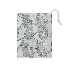 The Abstract Design On The Xuzhou Art Museum Drawstring Pouches (medium)