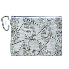 The Abstract Design On The Xuzhou Art Museum Canvas Cosmetic Bag (XL)
