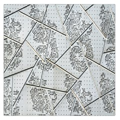 The Abstract Design On The Xuzhou Art Museum Large Satin Scarf (Square)