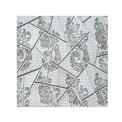 The Abstract Design On The Xuzhou Art Museum Small Satin Scarf (Square)