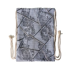 The Abstract Design On The Xuzhou Art Museum Drawstring Bag (Small)