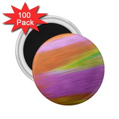 Metallic Brush Strokes Paint Abstract Texture 2.25  Magnets (100 pack)