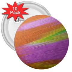 Metallic Brush Strokes Paint Abstract Texture 3  Buttons (10 Pack)