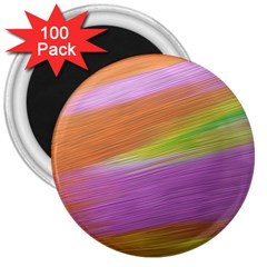Metallic Brush Strokes Paint Abstract Texture 3  Magnets (100 Pack)