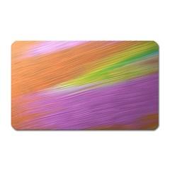 Metallic Brush Strokes Paint Abstract Texture Magnet (Rectangular)