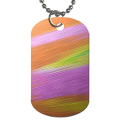 Metallic Brush Strokes Paint Abstract Texture Dog Tag (One Side)