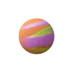 Metallic Brush Strokes Paint Abstract Texture Golf Ball Marker