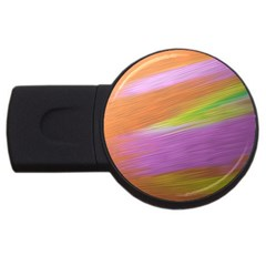 Metallic Brush Strokes Paint Abstract Texture USB Flash Drive Round (1 GB)