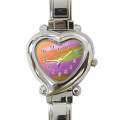 Metallic Brush Strokes Paint Abstract Texture Heart Italian Charm Watch