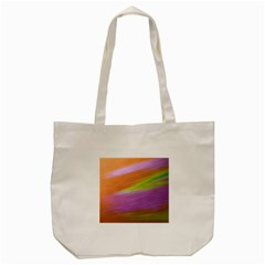 Metallic Brush Strokes Paint Abstract Texture Tote Bag (Cream)