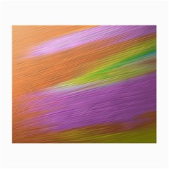 Metallic Brush Strokes Paint Abstract Texture Small Glasses Cloth