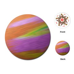 Metallic Brush Strokes Paint Abstract Texture Playing Cards (Round)