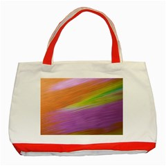 Metallic Brush Strokes Paint Abstract Texture Classic Tote Bag (Red)