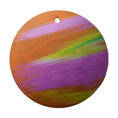 Metallic Brush Strokes Paint Abstract Texture Round Ornament (Two Sides)