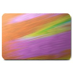 Metallic Brush Strokes Paint Abstract Texture Large Doormat
