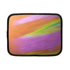Metallic Brush Strokes Paint Abstract Texture Netbook Case (small)