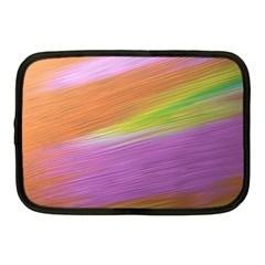 Metallic Brush Strokes Paint Abstract Texture Netbook Case (medium)