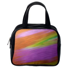 Metallic Brush Strokes Paint Abstract Texture Classic Handbags (one Side)