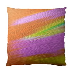 Metallic Brush Strokes Paint Abstract Texture Standard Cushion Case (One Side)