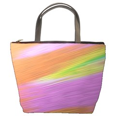 Metallic Brush Strokes Paint Abstract Texture Bucket Bags