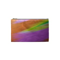 Metallic Brush Strokes Paint Abstract Texture Cosmetic Bag (Small)