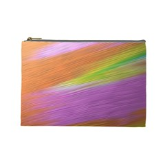 Metallic Brush Strokes Paint Abstract Texture Cosmetic Bag (large)