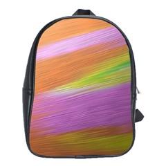 Metallic Brush Strokes Paint Abstract Texture School Bags(Large)