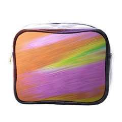 Metallic Brush Strokes Paint Abstract Texture Mini Toiletries Bags