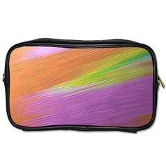 Metallic Brush Strokes Paint Abstract Texture Toiletries Bags