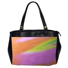 Metallic Brush Strokes Paint Abstract Texture Office Handbags (2 Sides)