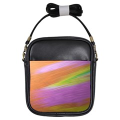 Metallic Brush Strokes Paint Abstract Texture Girls Sling Bags