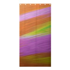 Metallic Brush Strokes Paint Abstract Texture Shower Curtain 36  X 72  (stall)